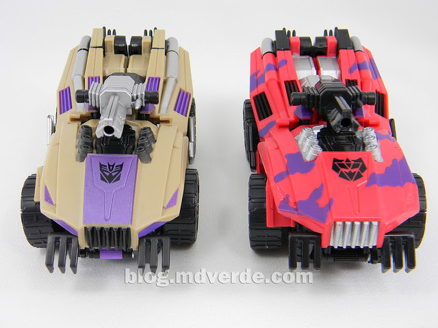 Transformers Swindlw Deluxe - G2 Fall of Cybertron - modo alterno vs SDCC