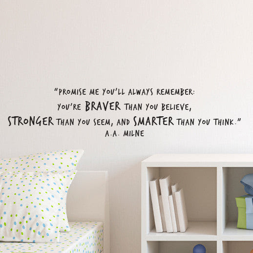 Winnie The Pooh Braver Stronger Smarter Quote Decal Shop Dana Decals