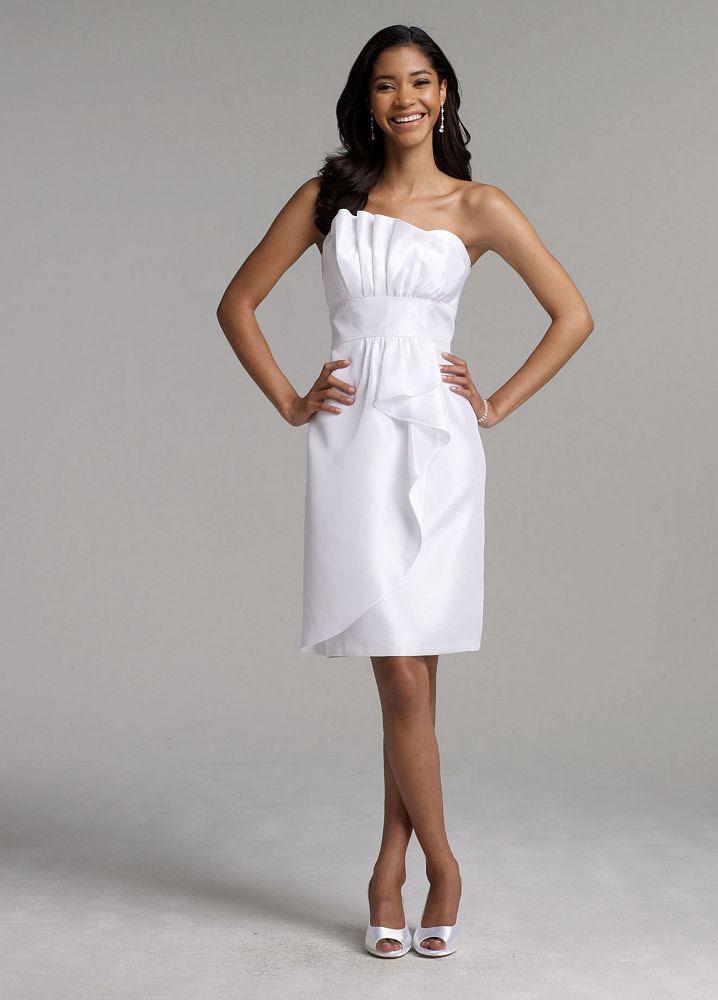 David's Bridal Short Shantung Wedding Dress | eBay