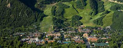 In this photo provided by the Aspen Chamber of Commerce, Aspen Colorado is seen. (AP Photo/Aspen Chamber of Commerce, Dan Bayer