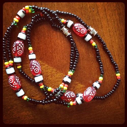 Necklace and bracelet set #ethiopia #roadsidemarket
