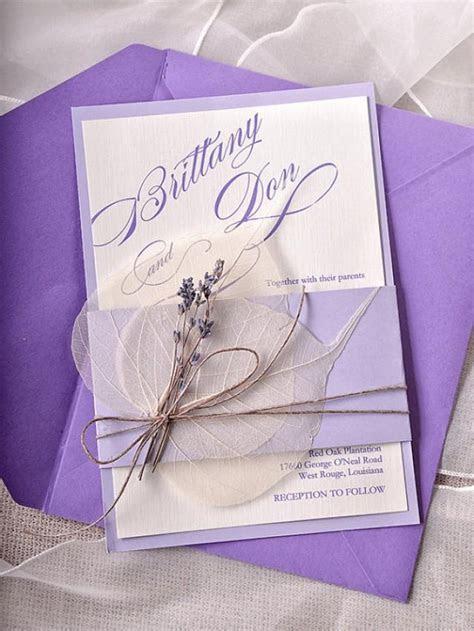 Custom Listing (100) Lavender Wedding Invitations, Lace