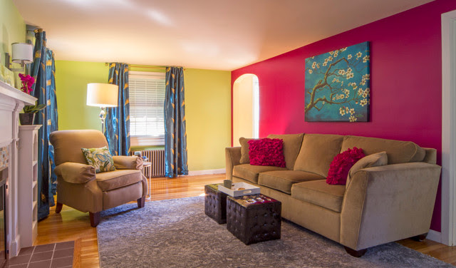 Jewel Toned Living Room - eclectic - living room - boston - by ...