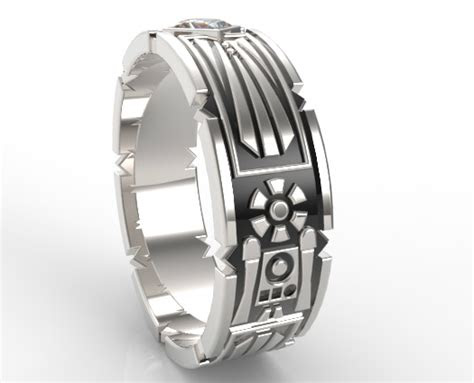 star wars wedding band  men vidar jewelry unique
