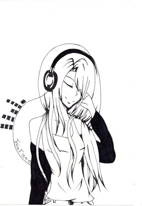 headphone drawing images