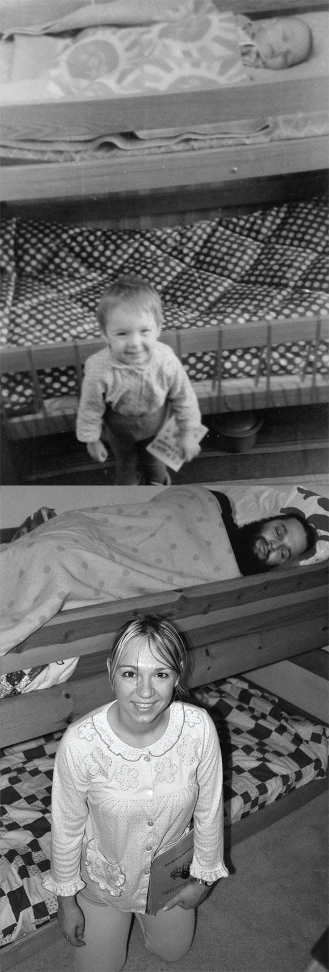 330 Amazing 12 page Calendar of Recreated Family Photos