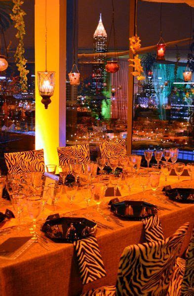 A South African themed party at Ventanas, a rooftop event