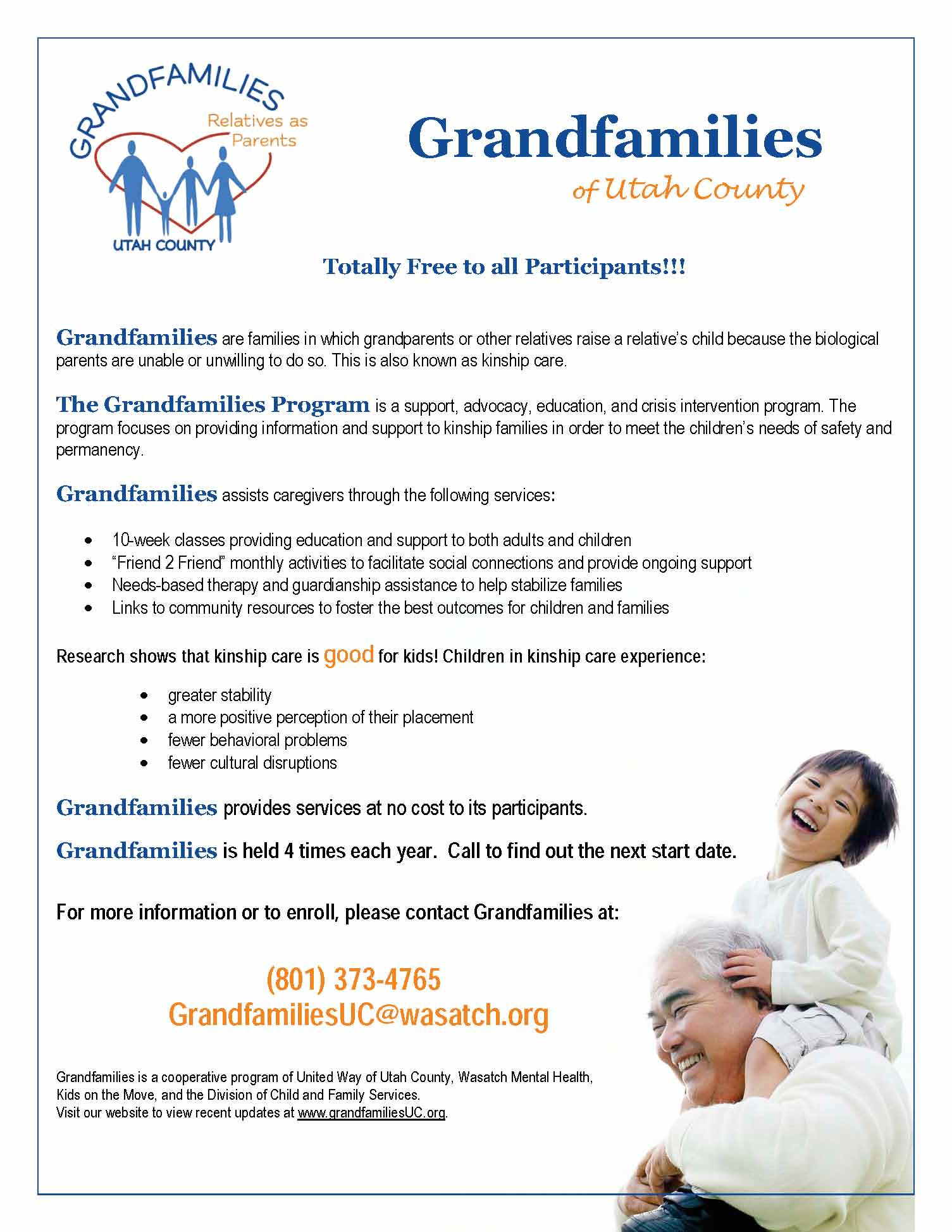 Grandfamilies of Utah County | Wasatch Mental Health