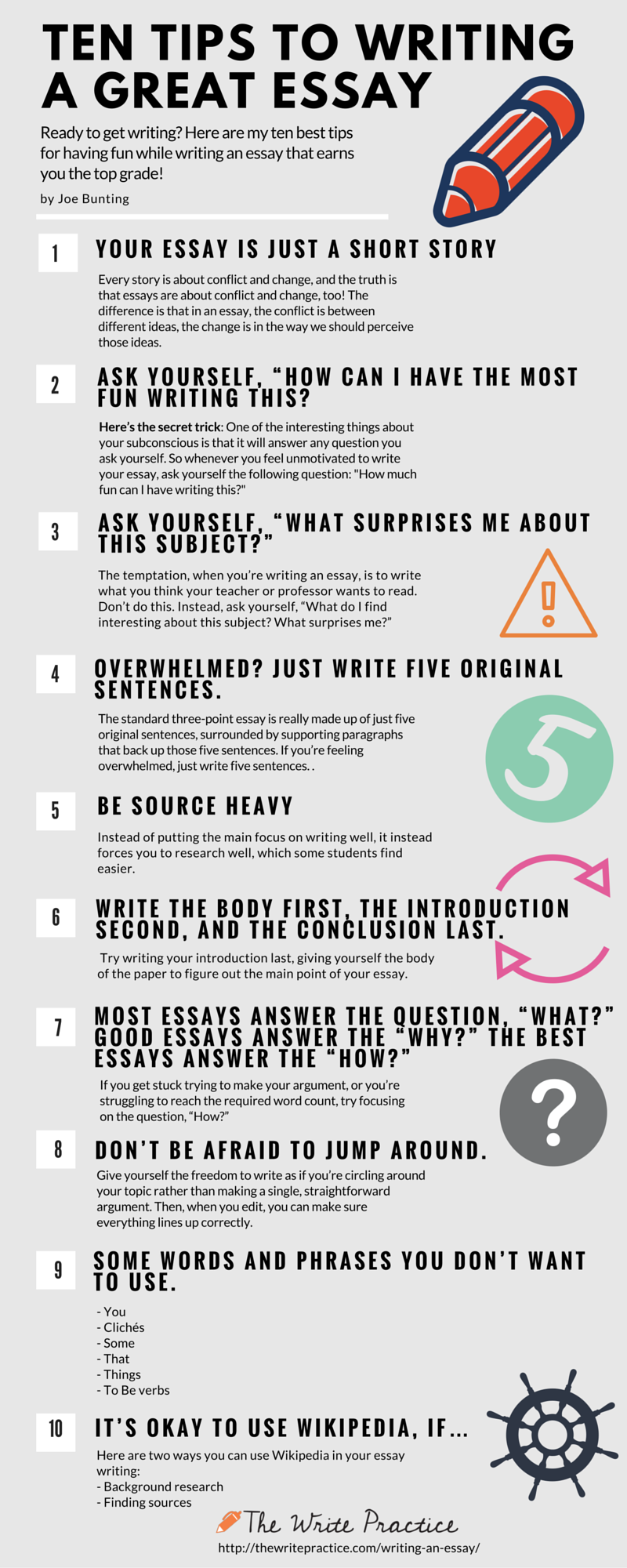 discussion Tips for good essay writing :
