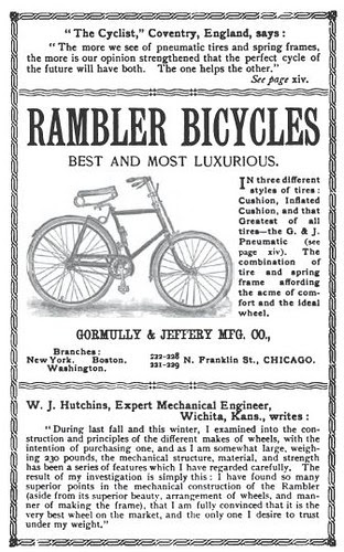 Rambler Bike Ad from (1892)