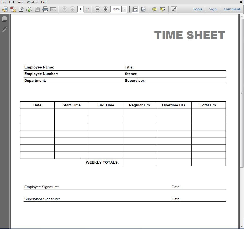Current image within free printable time sheets forms