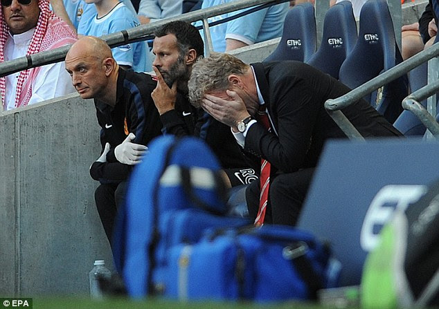 Nightmare: Moyes had a horrible experience in his first Manchester derby