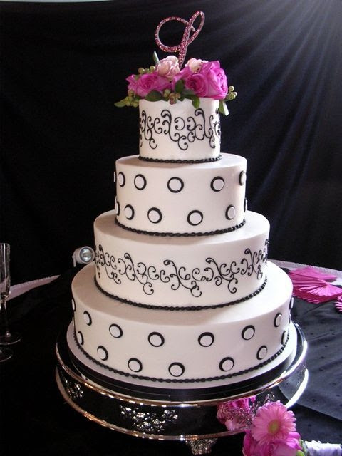 Black and White Classical cake