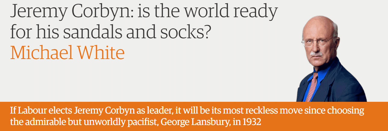 Jeremy Corbyn: is the world ready for his sandals and socks?