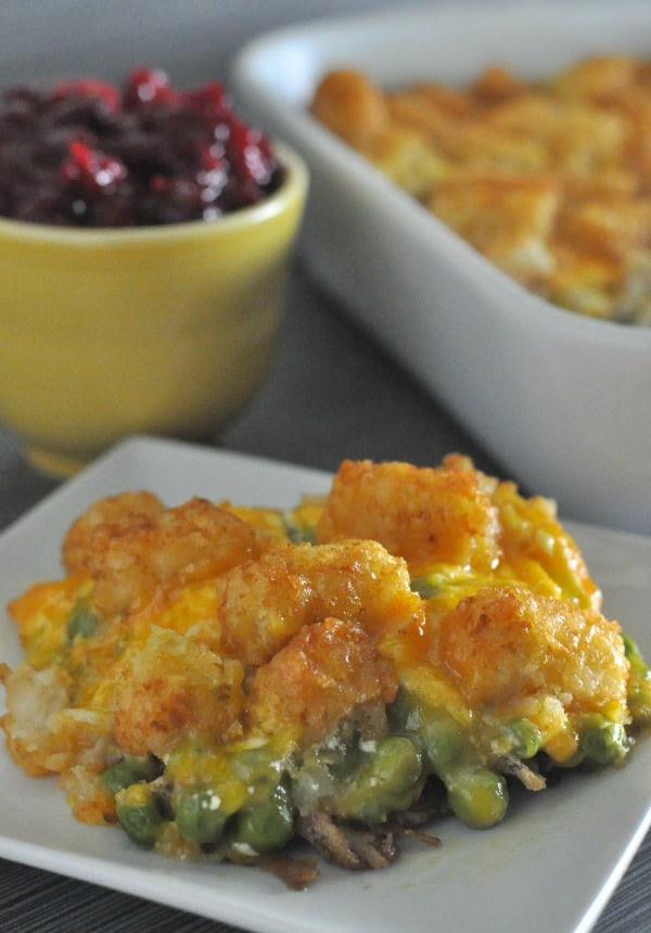 Leftover Turkey Tater Tot Hotdish - Dining with Alice