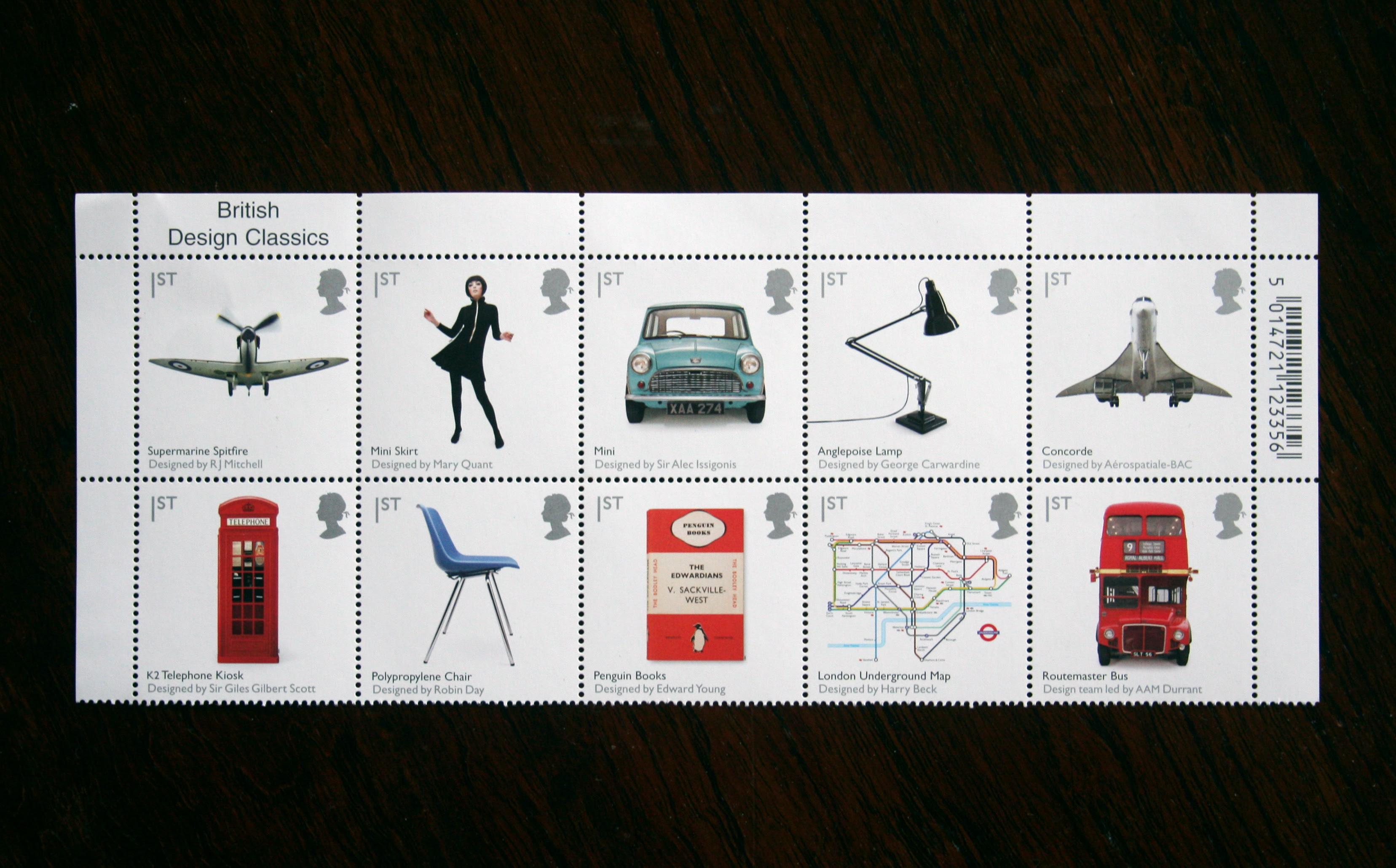 'British Design Classics' Stamps