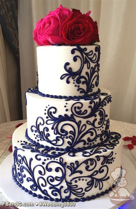 "Design W 0830   Butter Cream Wedding Cake   12"" 9"" 6"