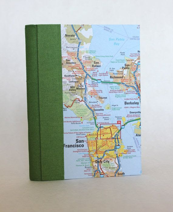 Travel Journal  San Francisco by therecycledlibrary on Etsy, $29.00