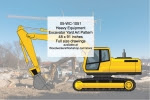 Heavy Equipment Excavator Yard Art Woodworking Pattern - fee plans from WoodworkersWorkshop® Online Store - heavy equipment,excavators,yard art,painting wood crafts,scrollsawing patterns,drawings,plywood,plywoodworking plans,woodworkers projects,workshop blueprints