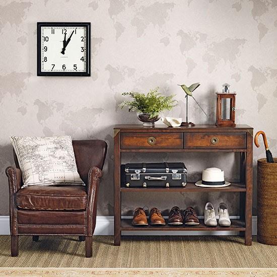 dark wood furniture. Interesting Wood Dark Wood Furniture And A Neutral Hallway With Dark   Hallway Decorating Intended Wood Furniture U