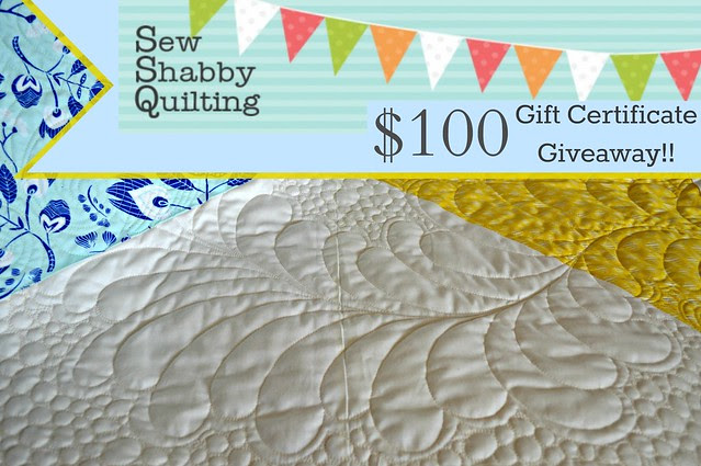 Sew Shabby Quilting $100 Gift Certificate Giveaway!!
