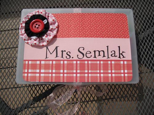 Mrs. Semlak's box