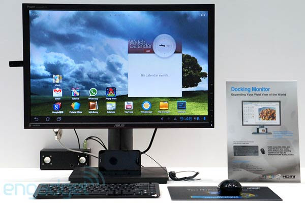ASUS shows off a docking monitor built for the PadFone, we go handson video