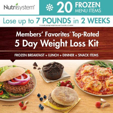 nutrisystem  day diet kit weight loss frozen food meals