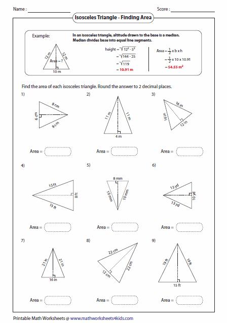 Printables Isosceles Triangles Worksheet Lemonlilyfestival