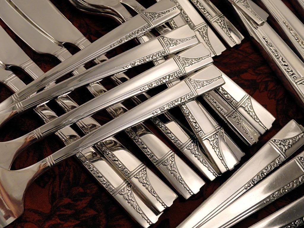 Oneida Nobility CAPRICE ART DECO Vintage 1937 Silver Plate
