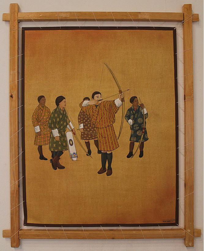 Archery, by Rinchen Wangdi