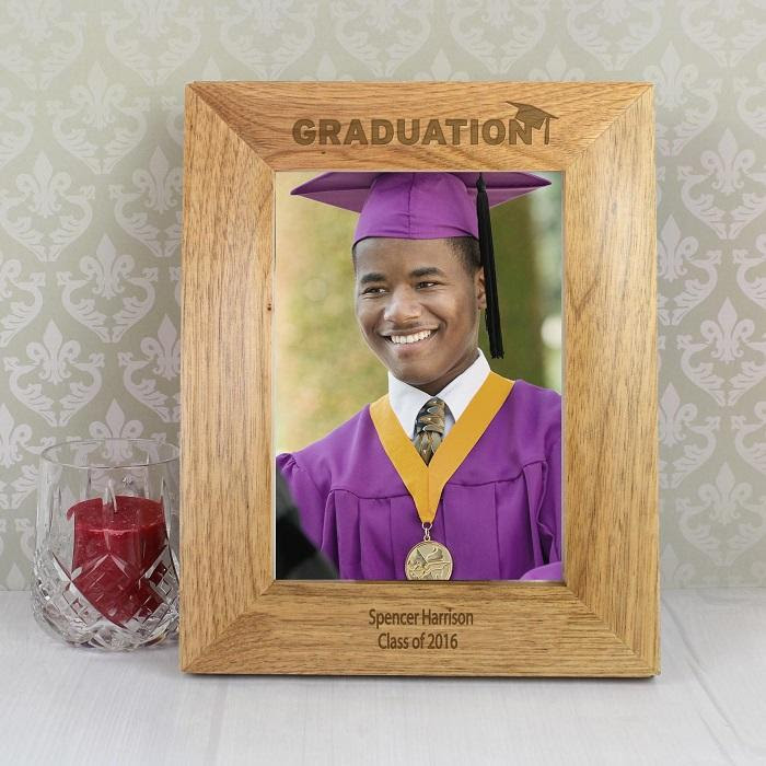 Personalised 5x7 Wooden Graduation Frame