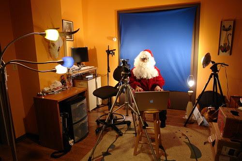 Vlog Santa production studio