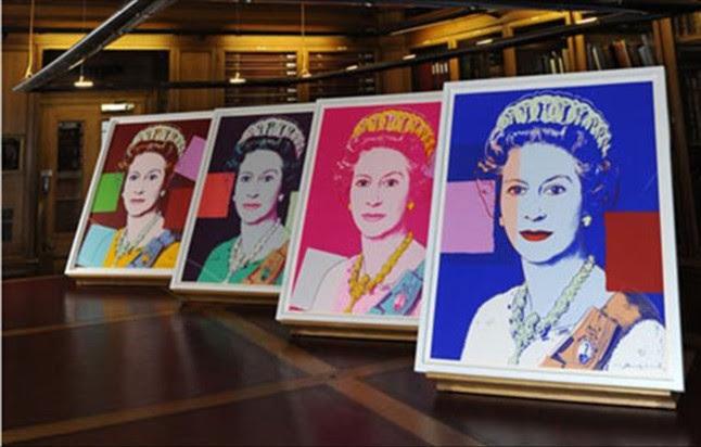 Los retratos de la Reina pintados por Andy Warhol.