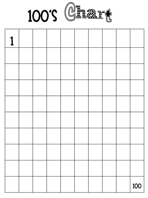 blank hundreds chart printable   Fast Finisher Folder: I haven