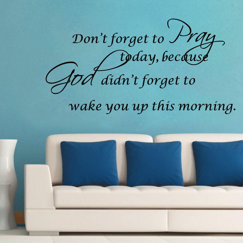Christian Vinyl Removable Pray God DIY Quotes Wall Stickers Home Decals Bible  eBay