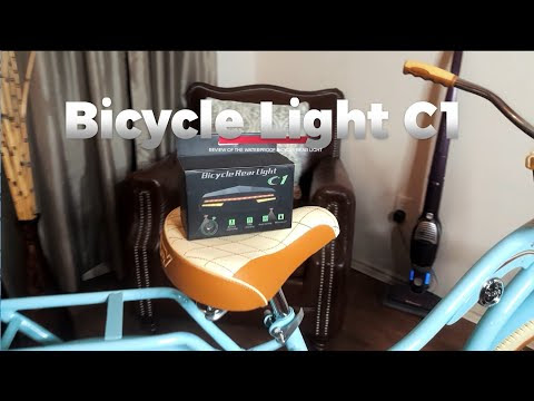 Bicycle Rear Light C1 with Laser Projection - Review
