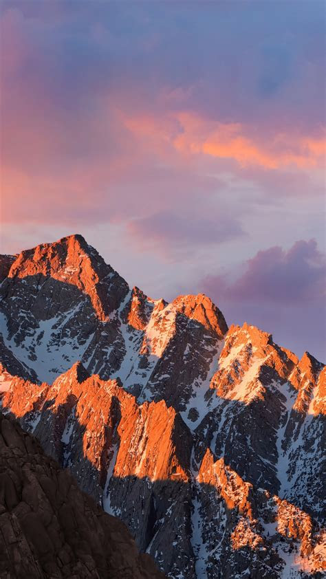 wallpaper mountains macos   sierra sky android wallpaper os
