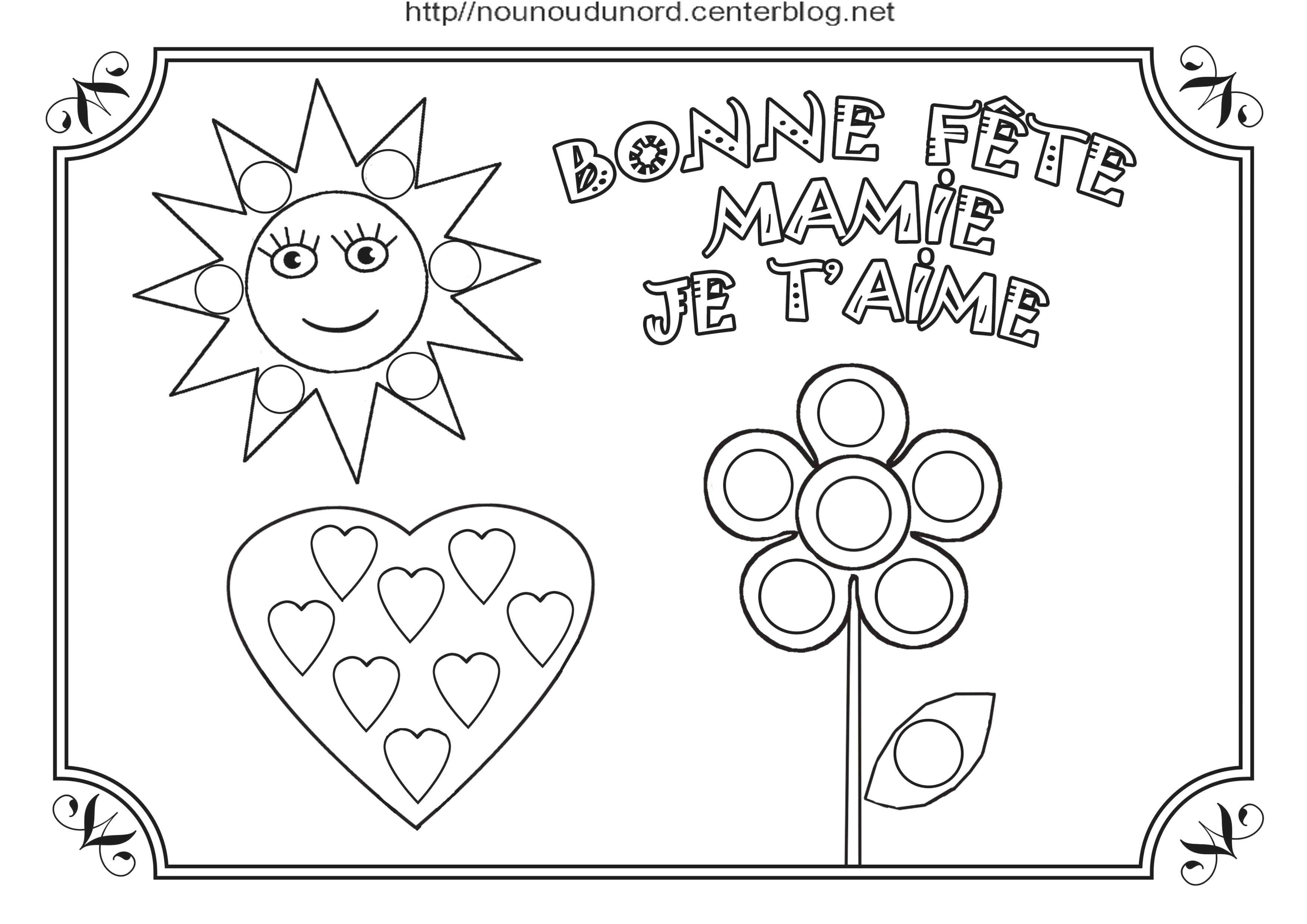 Coloriage Bonne Fete Mamie Atelier Passion
