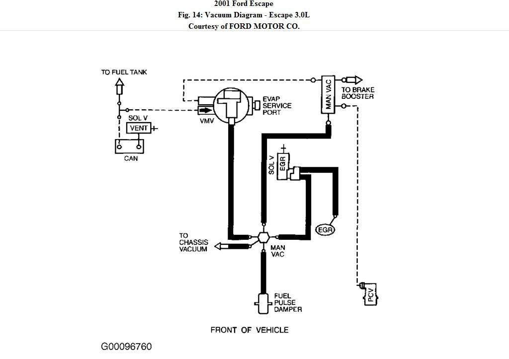 35 2003 Ford Escape Vacuum Hose Diagram