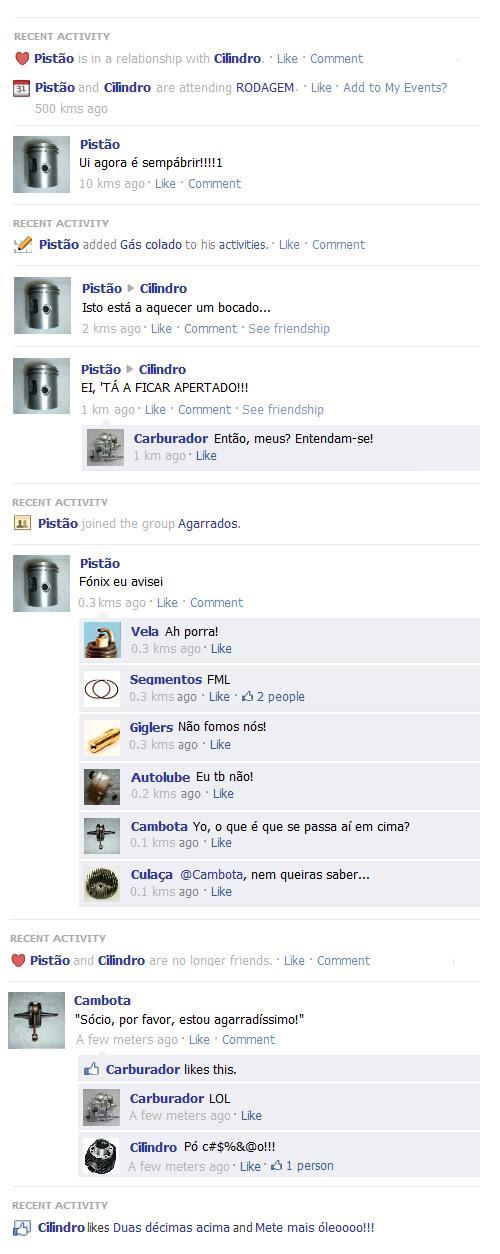 Agarranço, Facebook style