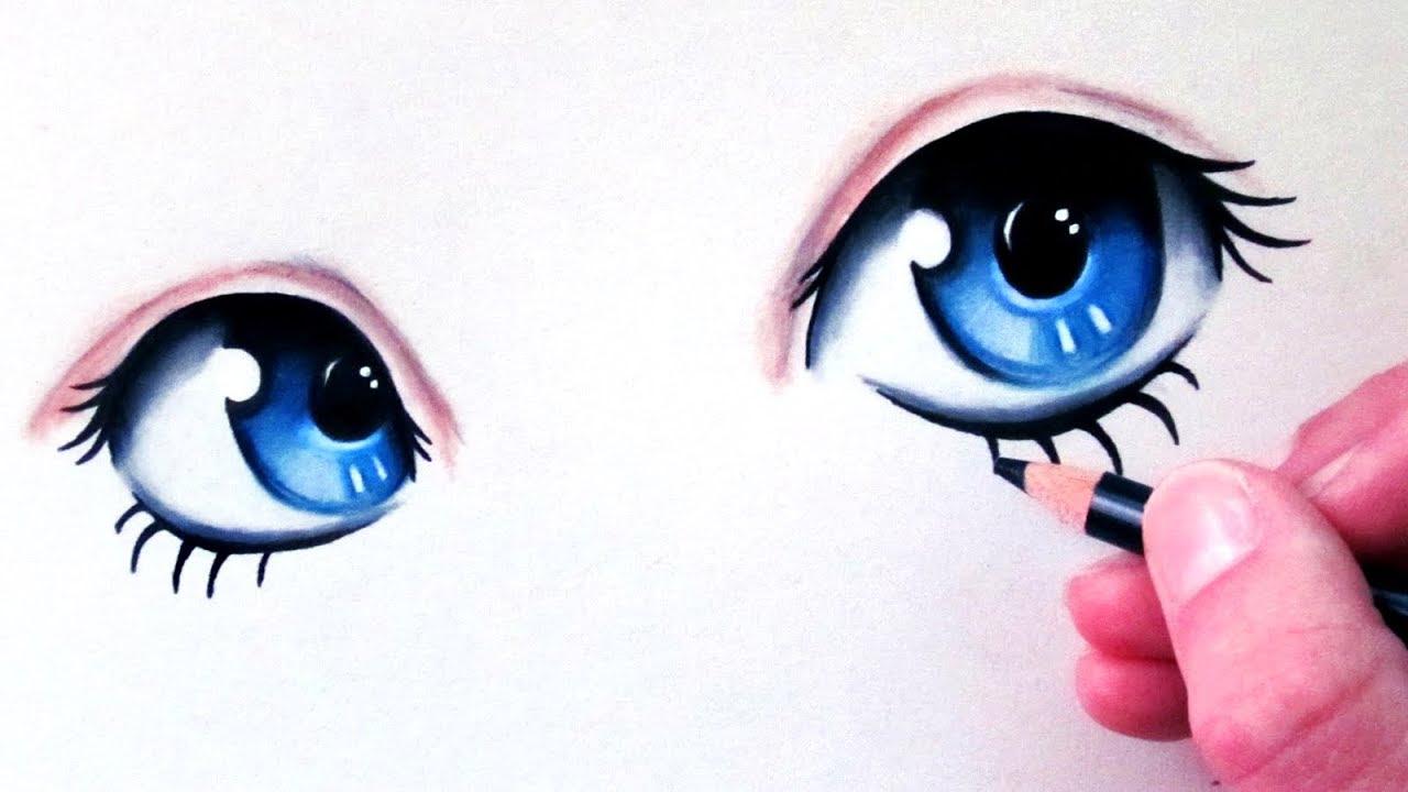 How to Draw Manga Eyes - YouTube