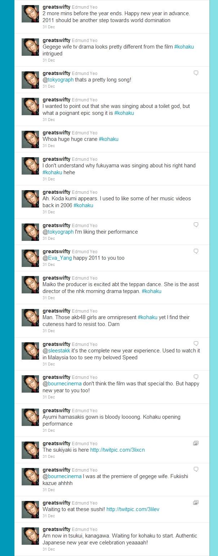 My tweets on Kohaku on 31 Dec 2010