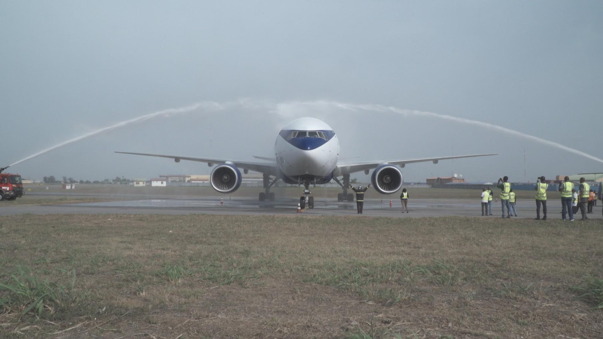 Air Peace sets new record as B777 aircraft arrives (Photos)