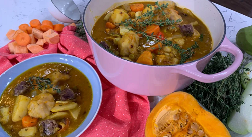 Alison Hammond Caribbean Saturday soup with beef shin, cho ...