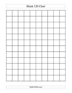 120 Chart to Fill In | math / 120 chart- fill in the blank ...