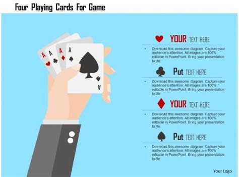 playing cards  game flat powerpoint design powerpoint  pictures
