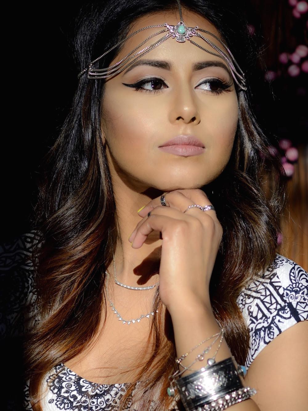 COACHELLA INSPIRED MAKEUP!! - Indian Bridal Makeup Boston