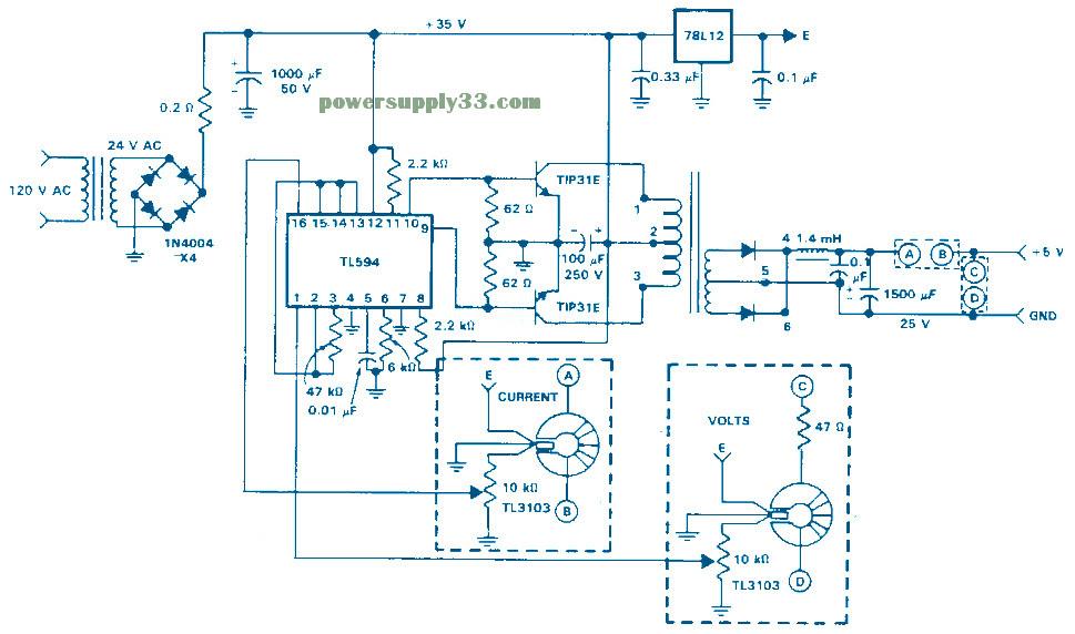 Smps 12volt 10 A Circuit Diagrams - Circuit Diagram Images