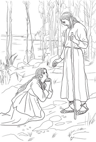 mary magdalene meets jesus by albert edelfelt coloring page